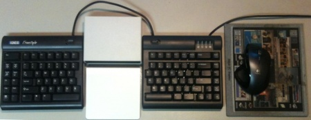 magic trackpad with kinesis freestyle keyboard