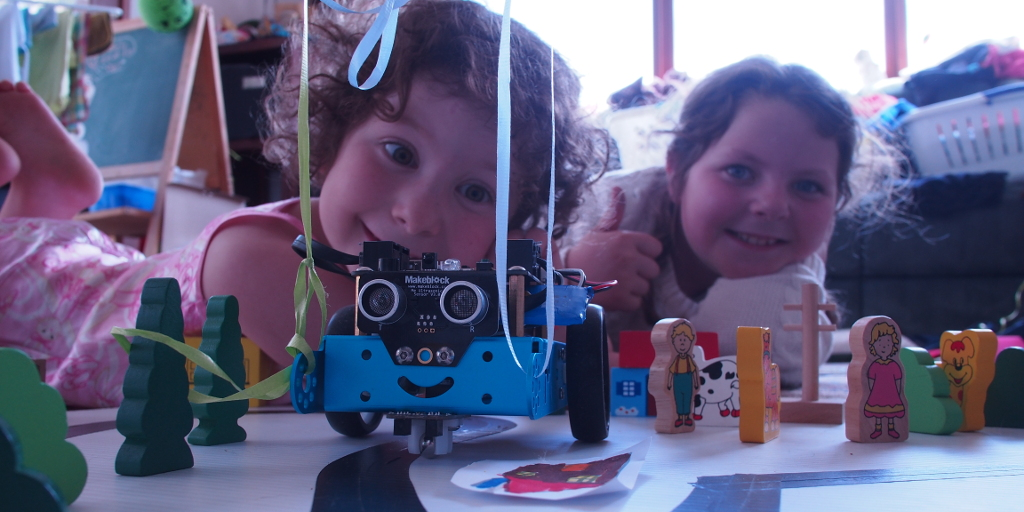 Mbot with Amelia and Charlotte